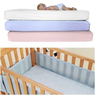 2 x Super Soft Cot 100/% Cotton Jersey Fitted Sheet Size 120cm x 60cm