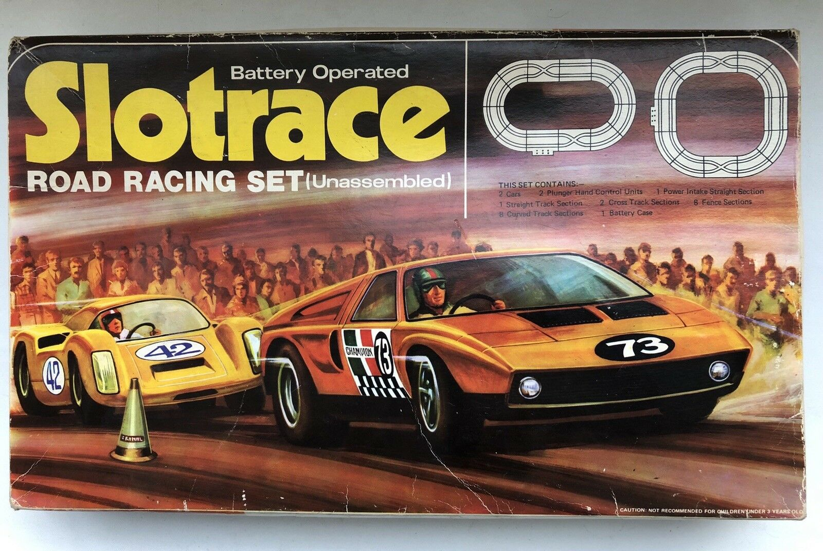 Slotrace Road Racing Set - Mercedes C111