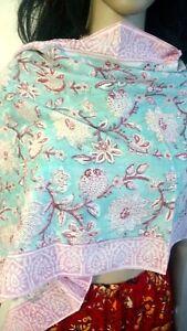 Cotton-Hijab-Anokhi-Art-Neck-Wrap-Sarong-Bikini-Cover-up-Duptta-Scarf-Pakistani