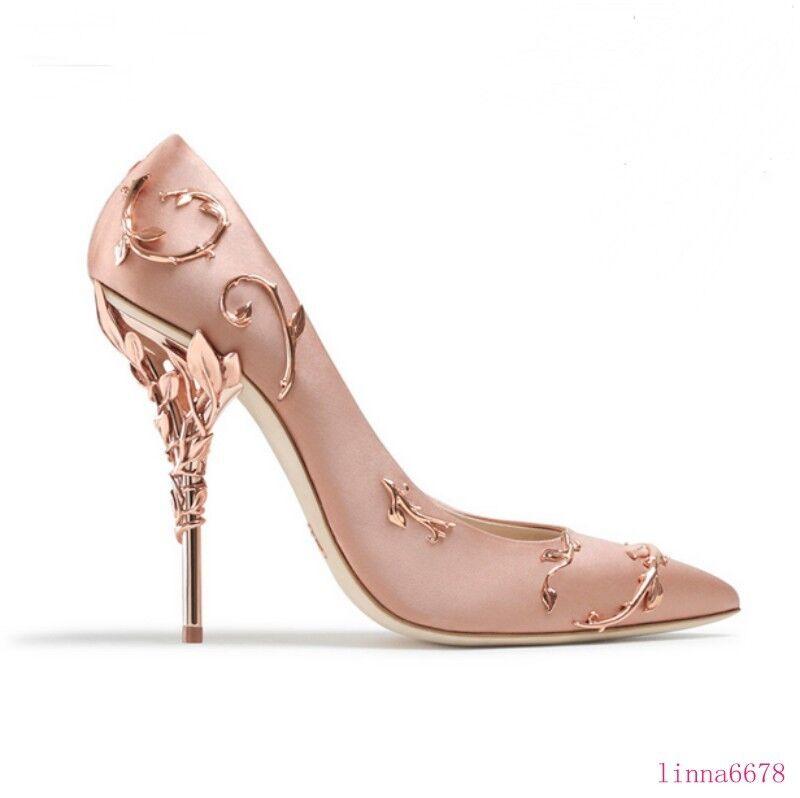 negozio di moda in vendita Donna  Stilettos Stilettos Stilettos High heel scarpe Pointy toe Metal Decor  Wedding Party 2019  prima i clienti