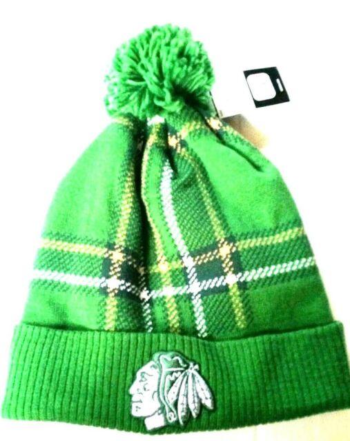650b90449 Adidas Chicago Blackhawks St. Patricks Winter Hat New w/Tags Fast Free  Shipping!