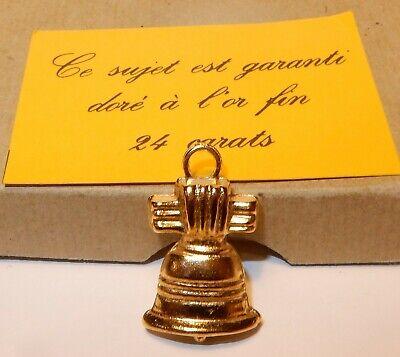Geschickt Glocke Ostern Anhänger Bohne Metall Vergoldet 3d Neu Golden -gold Fein