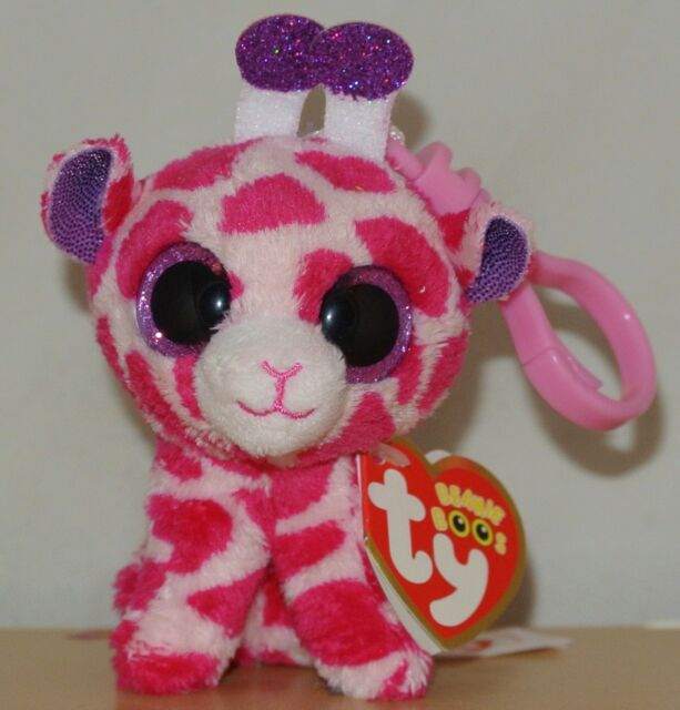 3fb5a9310a6 Twigs Pink Giraffe Beanie Boo Clip - Stuffed Animal by Ty (33003 ...
