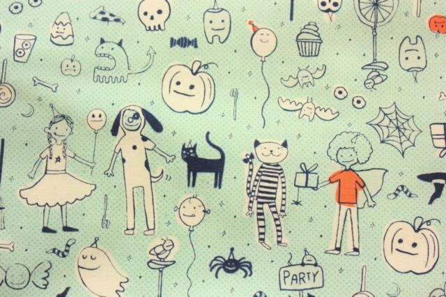 Cotton and Steel Sarah Melody Lil Monsters Made in Japan Cotton Half Metre
