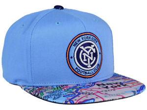 promo code 0168c d3701 Image is loading New-York-City-FC-adidas-MLS-Skyline-Snapback-