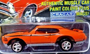 JOHNNY LIGHTNING MUSCLE CARS USA 1969 Pontiac GTO Judge Orange 1:64 Scale Diecas