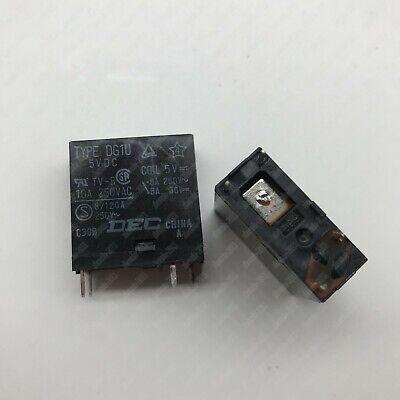 5pcs new DEC relay TYPE DG1U-5VDC 5VDC 10A TV-8