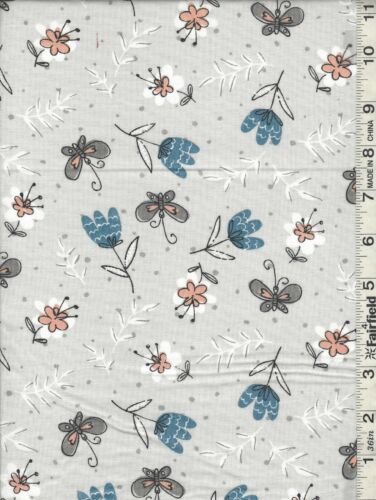 Cats Meow Floral Teardrop Words Fabric Collection  SOLD SEPARATELY