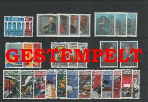 Liechtenstein-Vintage-Yearset-1984-Timbres-Used-Complet-Plus-Sh-Boutique