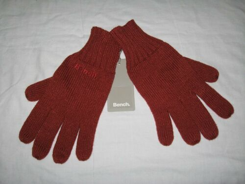 BNWT-BENCH Tricot Hiver Gants Automne Rouge