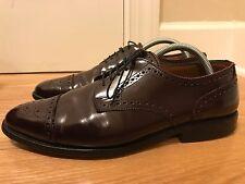 Allen Edmonds Men's Leather Oxford Dress Shoes Sz 9E Sandford Burgundy Cordovan
