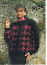 Chevy Ritz KNITTING PATTERN trellis patterned jacket 1125