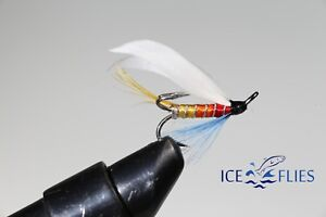 Salmon Fly,Hairy Mary 3-pack Fly Fishing Fly Single Hook. Pick a size