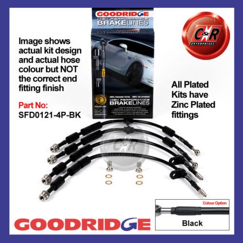 FORD Fiesta st180 13 sur Goodridge zinc plaqué noir frein tuyaux sfd0121-4p-bk