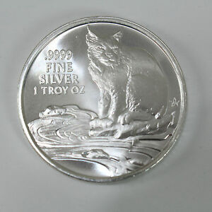 1 troy oz, .9999 fine, BU 2016 Texas Silver Round with Coyote Reverse
