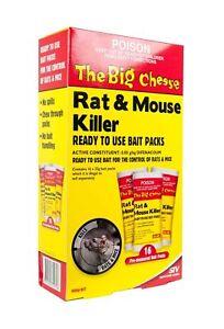 Rat & Mouse Killer The Big Cheese 400g Bait 16 X 25g Sachets