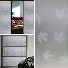 Item 1 New 35 X3ft Frosted Privacy Diy Gl Window Film White Maple Leaves Decorative