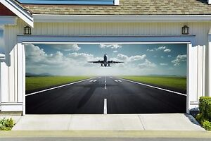 Image Is Loading AIRCRAFT PLANE MURAL FOR GARAGE Door 3D Effect