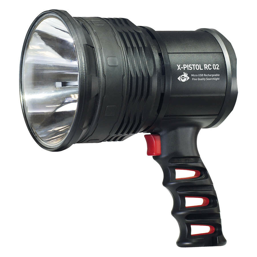 MacTronic Suchscheinwerfer X-Pistol RC 02 600lm Lampe Strahler  Handscheinwerfer  convenient