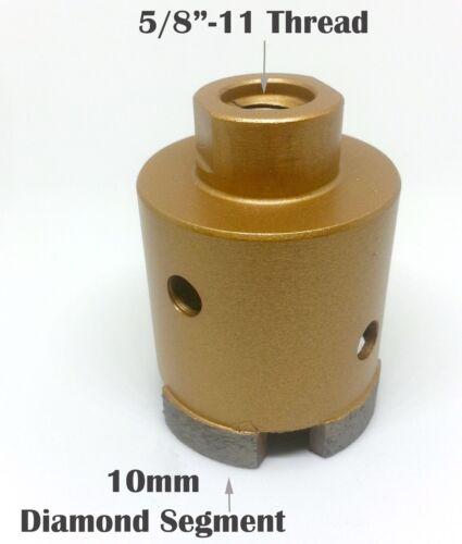 """1.25/""""  Wet Diamond Segments Core Drill Bit with 5//8/""""-11 UNC Granite Marble Stone"""