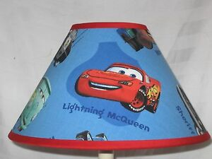 Image Is Loading Disney Cars Fabric Children 039 S Lamp Shade