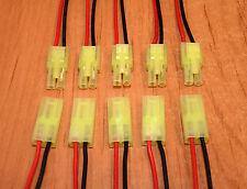 5 Paar MINI Tamiya Stecker / Buchse mit Kabel 100mm 5 Sätze Lipo Akku Kupplung
