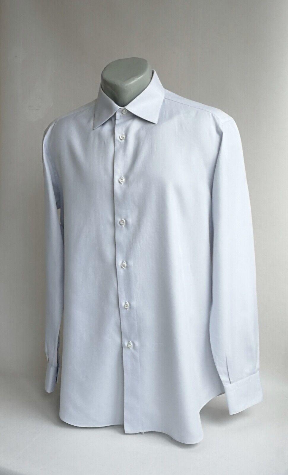 Brioni Men Shirt Long sleeve Light bluee Size 41 16