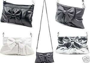 985a36d80346a Das Bild wird geladen kleine-Damen-Handtasche-Schleife-kleine-Handtasche- Clutch-Abendtasche-
