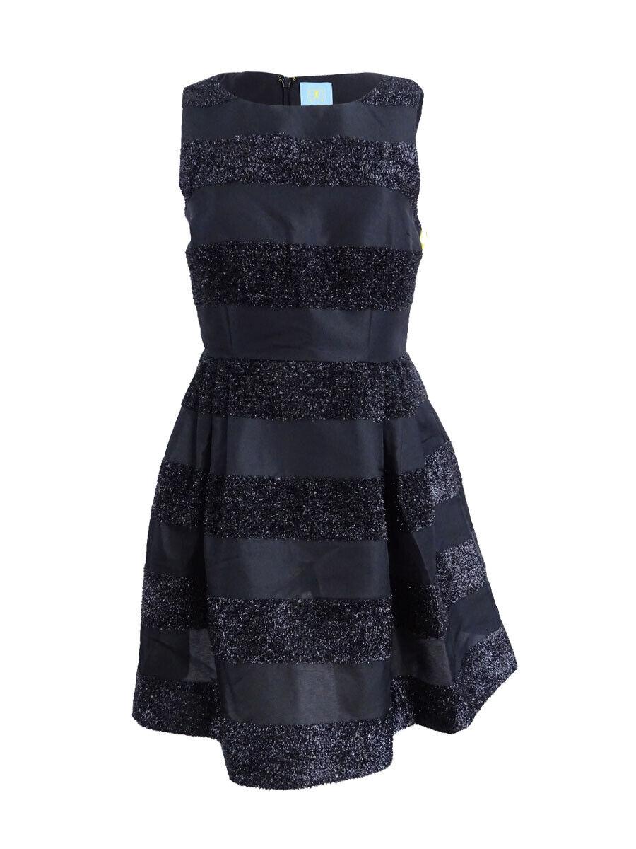 CeCe Women's Women's Women's Claiborne Striped Fit & Flare Dress 9d7485