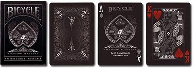 Bicycle Shadow Masters BLACK Deck of Playing Cards by (Ellusionist) New Sealed