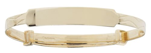 Baby Child ID Bangle SOLID 9ct Gold Christening Personalised Engraved 5.5