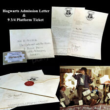 Harry Potter Hogwarts Admission Acceptance Envelope Letter 9 3/4 Platform Ticket