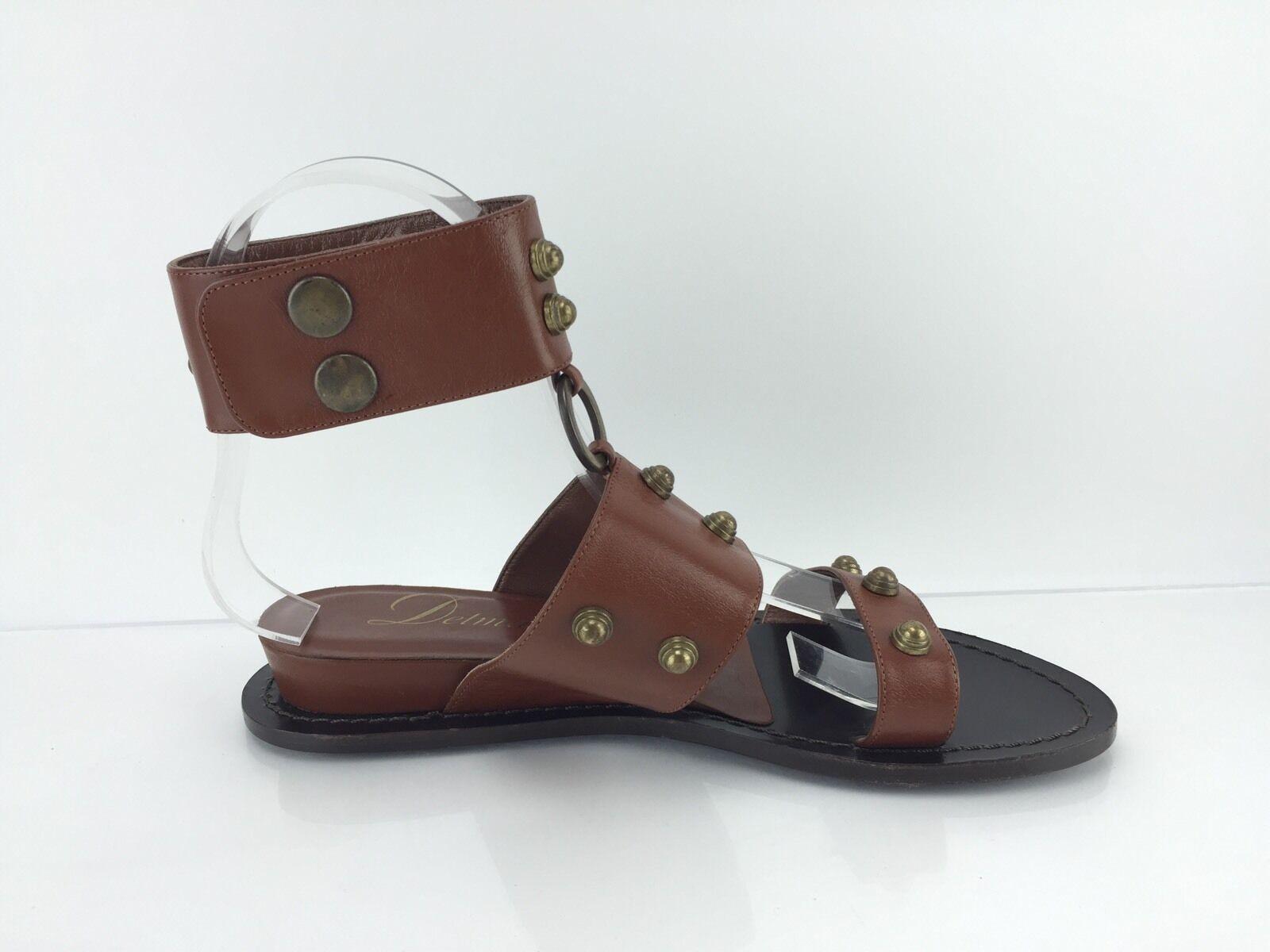 Delman Women's Brown Studded Sandals 5.5 B B B 4d59e8