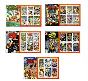 2020-DISNEY-MICKEY-MOUSE-ADVENTURES-5-SOUVENIR-SHEETS-UNPERFORATED-COMICS