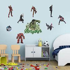 Avengers Marvel Captain America Hulk Wall Sticker Decal Removable Mural Decor