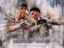 CARL FRAMPTON vs. LEO SANTA CRUZ (2) / Original Onsite Fight Sponsors Poster