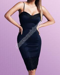 7706149e89d0 Caricamento dell immagine in corso Vestito-elegante-PIZZO-donna-cerimonia- tubino-scollato-sexy-
