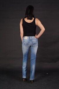 116dde2c8fd8b4 PEPE JEANS Midonna Damen Hose Hüftjeans High Waist Straight Blau ...