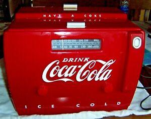 COCA-COLA-AM-FM-CASSETTE-OLD-TYME-COOLER-RADIO-OTR-1949-SEE-DESCRIPTION