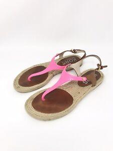 0d51b32bf Image is loading Kors-Michael-Kors-Hazel-Jelly-Leather-Espadrille-Sandals-