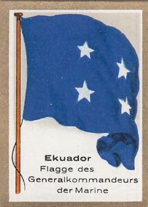 DRAPEAU-Ecuador-Equateur-Commander-of-the-navy-commandant-Marine-FLAG-CARD-30s