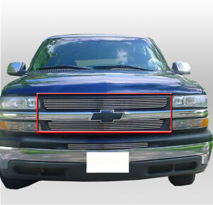 Chevy 2001 02 Silverado 2500 3500 Hd Truck Front Main Billet Grille Grill Insert Ebay