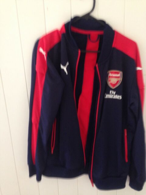 dafd781abf2 PUMA AFC Arsenal FC Stadium Vent Wind Cell Mens Zip Jacket Navy for sale  online