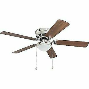 Harbor Breeze 41391 Armitage 52in. Indoor 5 Blade LED Ceiling Fan - Brushed Nickel