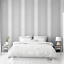 Calico Hessian Industrial Silver Grey Stripe Wallpaper by Arthouse 921300