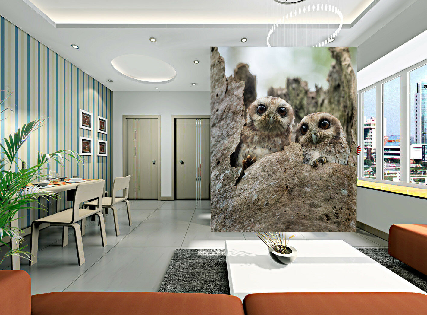 3D Hain Eule Tier 8799 Tapete Wandgemälde Tapete Tapeten Bild Familie DE Jenny