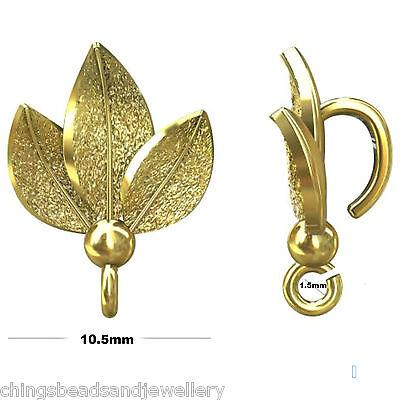 Sterling Silver 14mm Leaf Bail With Loop Jewellery Making PK1 PK5