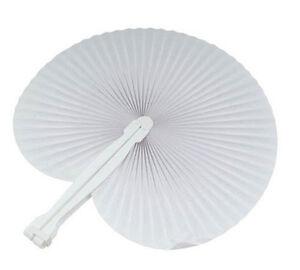 200 pezzi Ventaglio matrimonio segnaposto bomboniera wedding colore BIANCO white