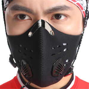 Bike-Bicycle-Riding-Mask-Gas-Filter-Protection-Face-Head-Respirator-Anti-K7T