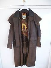 Equestrian Full Length  Waxed Coat - Brown - 40 Inch Chest